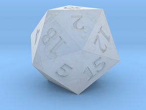D20 Justice Scales Symbol Logo in Smoothest Fine Detail Plastic