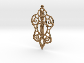 :Baby Lace: Pendant in Polished Brass