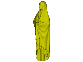 1/20 scale female with long cloak praying figure in Smooth Fine Detail Plastic