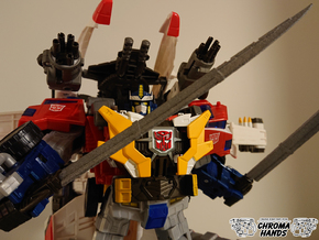Cybertron Optimus Sonic Wing Extended Sword  in Gray PA12