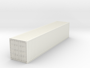 40ft Shipping Container 1/72 in White Natural Versatile Plastic