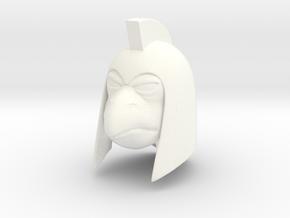 Reptile Man Leader Head in White Processed Versatile Plastic