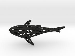 Big Digital Shark - 30cm in Black Natural Versatile Plastic