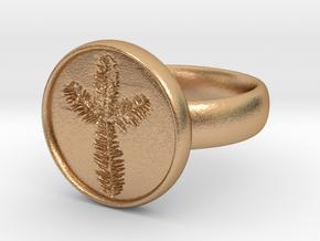 peacering in Natural Bronze
