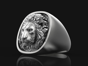 Lion Ring No.1_7 1/2 US in Antique Silver: 7.5 / 55.5