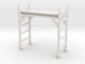 Scaffolding Unit 1/43 in White Natural Versatile Plastic