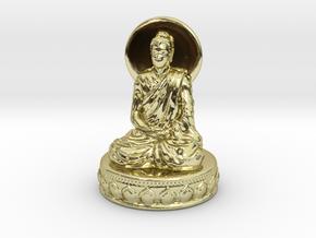 Miniature Buddha in 18K Yellow Gold