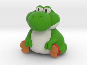 Fat Yoshi (Super Mario RPG) - Etsy Version in Natural Full Color Sandstone: Extra Small
