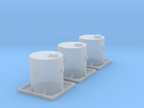 VR N Scale Concrete Container - Three in Smooth Fine Detail Plastic