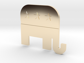 Republican Party Lapel in 14K Yellow Gold
