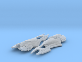 Xindi Primate Ship 1/3788 Attack Wing x2 in Smooth Fine Detail Plastic