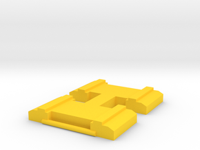 Hawks 'H' Belt Buckle in Yellow Processed Versatile Plastic