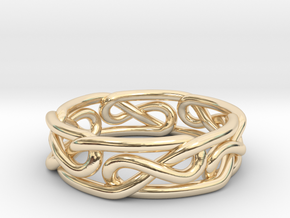 Celtic Infinity Knot Ring Size 6.5  in 14K Yellow Gold