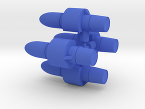 Scourge Rocket Booster in Blue Processed Versatile Plastic: Small