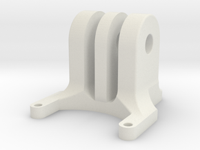 iFlight Chimera LR4 Adjustable GoPro Mount in White Natural Versatile Plastic