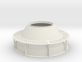 1:16 Scale DShK dual open turret Base in White Natural Versatile Plastic