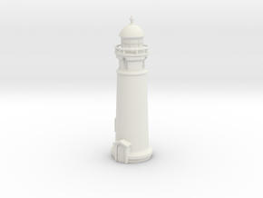 Lighthouse (round) 1/200 in White Natural Versatile Plastic