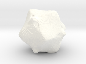 Fractal - Beth1241 in White Strong & Flexible Polished