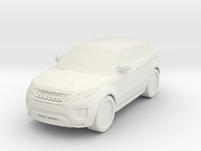 Range Rover Evoque 1/48 in White Natural Versatile Plastic