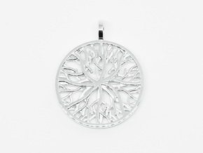 Pendant Coral in Polished Silver