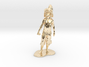 Boy Soldier Pendant in 14K Yellow Gold