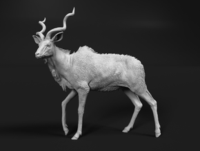 Greater Kudu 1:16 Walking Male in White Natural Versatile Plastic