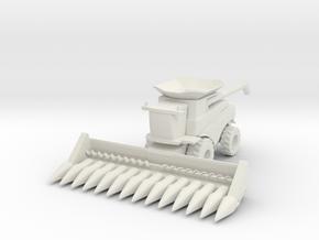J.D. T Combine Harvester 1/76 in White Natural Versatile Plastic