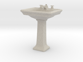 Toilet Sink 03. 1:6 Scale in Natural Sandstone