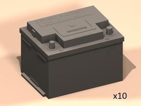 1/25 car start battery in Smooth Fine Detail Plastic