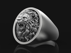 Lion Ring No.4_10 US in Antique Silver: 10 / 61.5