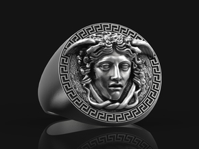Medusa Ring No.1 in Antique Silver: 9.5 / 60.25