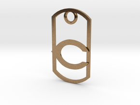 "Carlsbad ""C"" key fob in Natural Brass"