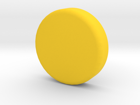 qButton_Bottom in Yellow Processed Versatile Plastic
