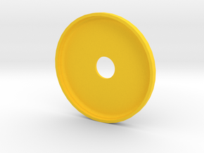 qButton_Top in Yellow Processed Versatile Plastic