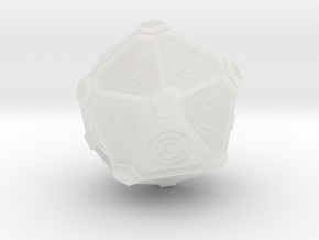 Gallifreyan D20 (28mm) in Smooth Fine Detail Plastic