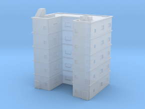 Residential Building 01 1/1000 in Smooth Fine Detail Plastic