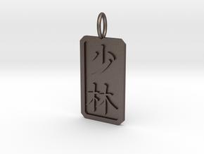 Shaolin Pendant in Polished Bronzed-Silver Steel