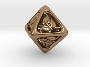 Tengwar Elvish D8 in Natural Brass