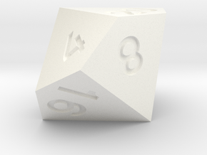 2 times table d10 in White Processed Versatile Plastic