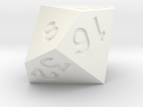 4 times table d10 in White Processed Versatile Plastic