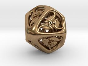 Tengwar Elvish D10 (Numbered 1-10) in Natural Brass