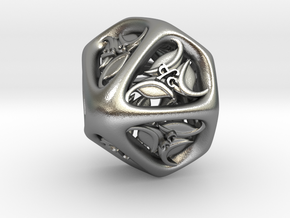 Tengwar Elvish D% (Numbered 00-90) in Natural Silver