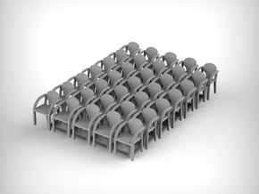 Chair 01. 1:100 scale in Smooth Fine Detail Plastic