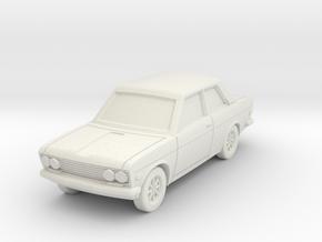 Datsun 510 2door in White Natural Versatile Plastic: 1:100