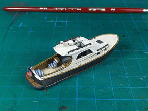 Yacht Ver01. 1:160 Scale in Smooth Fine Detail Plastic
