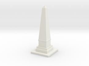 Obelisk Monument 1/100 in White Natural Versatile Plastic