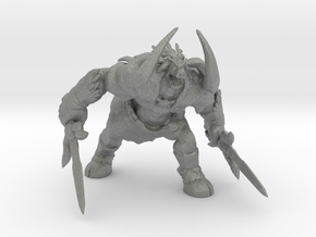 Ganon monster 80mm miniature fantasy games model in Gray PA12