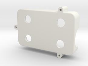 Mobius Case Bottom in White Natural Versatile Plastic