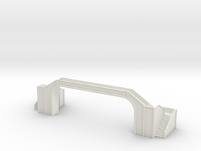 Railway Foot Bridge long 1/160 in White Natural Versatile Plastic