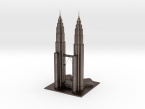 Petronas Twin Tower in Polished Bronzed-Silver Steel